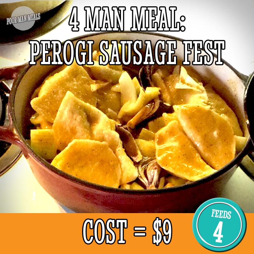 Roasted Perogi Sausage Fest