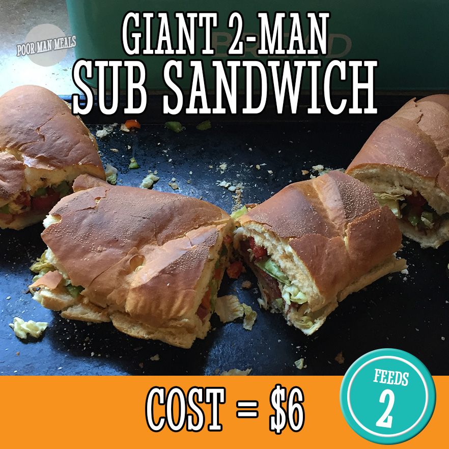 Giant 2-Man Submarine Sandwich